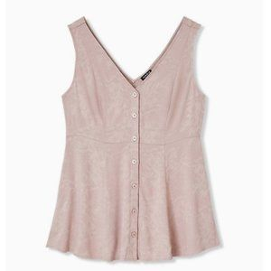 Torrid NWT's TAUPE JACQUARD BUTTON FRONT FIT & FLA